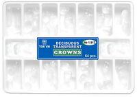 64pcs Dental Anterior Deciduous primary Kids Transparent strip Crowns Matrices