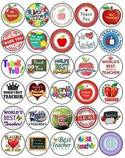 30 THANK YOU BEST TEACHER PREMIUM 4CM MIXED RICE WAFER PAPER CUP CAKE TOPPERS D1