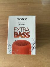 Sony Diffusore SRS Xb12r Red Bluetooth E NFC Extra Bass Ip67 16ore Autonomia