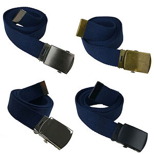 """Adjustable 48"""" Canvas Belt  Military Army w/ Silver/Black/Burnished G/S Buckle"""