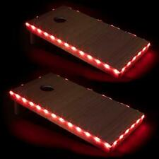 Play Platoon Led Cornhole Board Lights Set of 2, Red - Corn Hole Edge Lighting