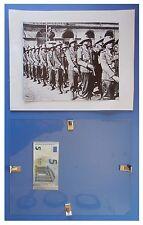 Carabinieri in Africa omaggio bandiera corpo duce fascismo quadro cornice vetro