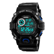 Sports Mens LED Digital 5 ATM Waterproof Military Date Shock Wristwatch Watch