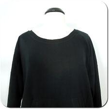 ZELLA Woman's Black Sweatshirt, Front Pocket, Long Sleeves, size M