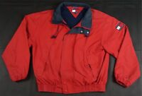 Rare Vintage TOMMY HILFIGER Spell Out Color Block Flag Sailing Jacket 90s Red L
