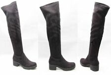 Block Synthetic Leather Over Knee Boots for Women