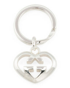 NWT Gucci Sterling Silver Love Britt Key Ring in the original box , pouch $425