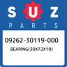 09262-30119-000 Suzuki Bearing(30x72x19) 0926230119000, New Genuine OEM Part