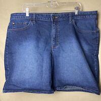 Lee Riders Women Midrise Short Size 22M Blue Bermuda Stretch Denim