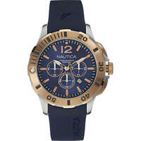Orologio Nautica Bfd 101 Dive Style Chrono NAI19506G Crono Gomma Blu Rame Oro