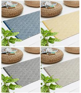 Diamond Design Chindi Rugs Recycled Fabric Kitchen Hallway Garden Area 70x130cm