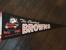 CLEVELAND BROWNS THROWBACK PENNANT BROWNIE ELF NEW!