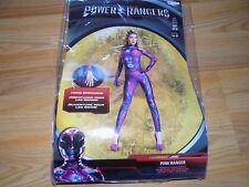 Size Large 12-14 Disney Power Rangers Pink Ranger Halloween Costume Bodysuit New