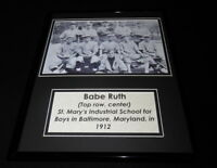 Babe Ruth w/ 1912 St Mary's Baltimore School Team Framed 11x14 Photo Display