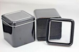 Square, Black  Aluminium Watch/Bracelet Storage / Travel Box