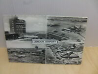 London Airport – real photograph multi-view Postcard c 1960