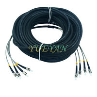 75M Field Outdoor Fiber Cable ST-ST 4 Strand 9/125 Single Mode Fiber Patch Cord
