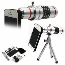 18X Optical Zoom Telescope Camera Lens Kit Tripod+Back Case For iPhone 5 5S
