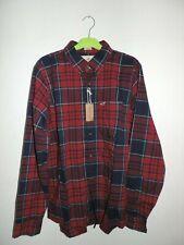 Hollister Plaid Poplin Shirt Navy/Red Size Medium rrp £29 DH007 QQ 07