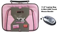 "Dicota Base 11.6"" Borsa Per Laptop Netbook Tablet Custodia Rosa + MOUSE USB MINI NUOVO"