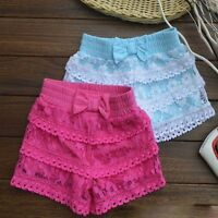 Girls Toddler Lace Short Cotton Fashion Kid's Pants Clothes 2 3 4 5 6 6X Year