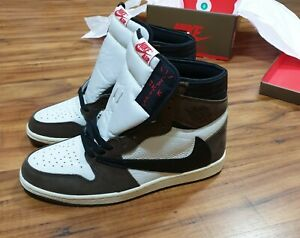 Travis Scott Jordan 1 Retro High US9.5 Sneakers Basketball Shoes for Men Women