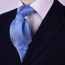"Pink Diamond Studs Light Blue Designer Luxury Formal Business B2B 3"" Regular Tie"