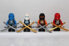 NEW LEGO NINJAGO: KAI, ZANE, COLE & JAY AIRJITZU Minifigs Minifigures ZX Ninja
