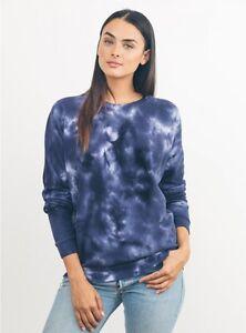 Tie Dye Bleach Fleece Sweatshirt by Junkfood