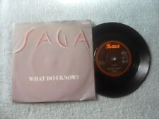 """SAGA WHAT DO I KNOW? PORTRAIT RECORDS UK 7"""" VINYL SINGLE in PICTURE SLEEVE"""