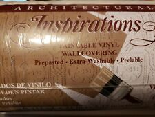 """48928 Architectural Inspirations Paintable Vinyl Wallcovering Prepasted 21""""x33'"""