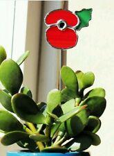 Handmade vitraux British Legion style Poppy-Plante Pot Accessoire