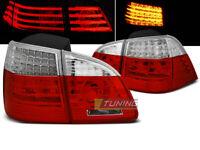 Coppia di Fari Posteriori per BMW Serie 5 E61 2004-2007 TOURING Rosso Bianco LED