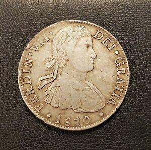 MEXICO 1810 COLONIAL 8 REALES ~ FERNANDO VII ~ NICE GRADE COIN & SCARCE DATE
