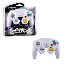 Nintendo GameCube WHITE Rumble Controller Pad Teknogame (Wii Wired Gamepad)