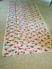 Vintage Tablecloth Pink And White With Butterflies