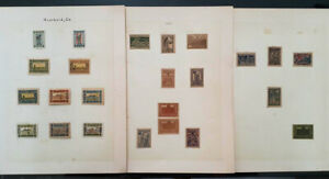 (Z25) AZERBAIJAN  CLASSIC STAMPS 1ST 2ND SETS, UNUSED HINGED ON PAGE 3 SCANS