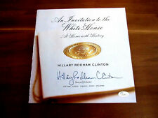 HILLARY RODHAM CLINTON AN INVITATION TO THE WHITE BOOK PAGE SIGNED AUTO JSA LOA