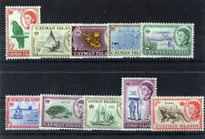 CAYMAN ISLANDS 1962 DEFINITIVES SG165/174 BLOCKS OF 4 MNH