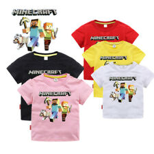 Boys Kids Girl Minecraft Cotton Gamer TShirt t-shirt 2-12 years old Gift Toys