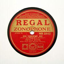 """La colina Billies """"paseo, piesuave, Ride"""" (E +) Regal Zonophone MR-2842 78 Rpm []"""