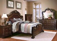 McFerran B538-EK Dark Brown 4Pcs King Sleigh Bedroom Set
