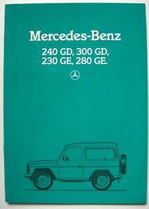 Prospekt brochure Mercedes G W460 240 GD 300 GD 230 GE 280 GE MJ 1984 1985 D