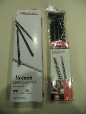 100 Office Depot 14 Binding Combs Black 10 516 Gbc Zip Bind Spines Black