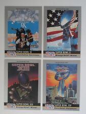 1990 Pro Set Super Bowl Programs Rings Pittsburgh Steelers Team CARD Set 4 Nm-Mt