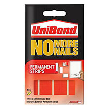 Unibond No More Nails Permanent Strips Pack Of 10 - RED Holds 3kg Per Strip