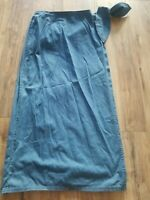 Marsh Landing Denim Wrap Skirt Size 8 Excellent Condition
