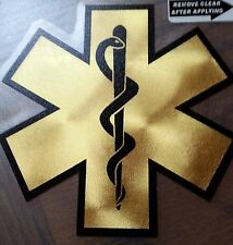 "Star of Life, Faux Gold Decal Decal, 3.75"" wide  #EM36"