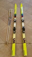 Snow Skis Kastle CX 185cm downhill skis with Solomon 757 bindings and poles.