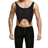 Herren String Body mit Strumpfhaltergürtel Metall Clips Reizvoll Unterwäsche
